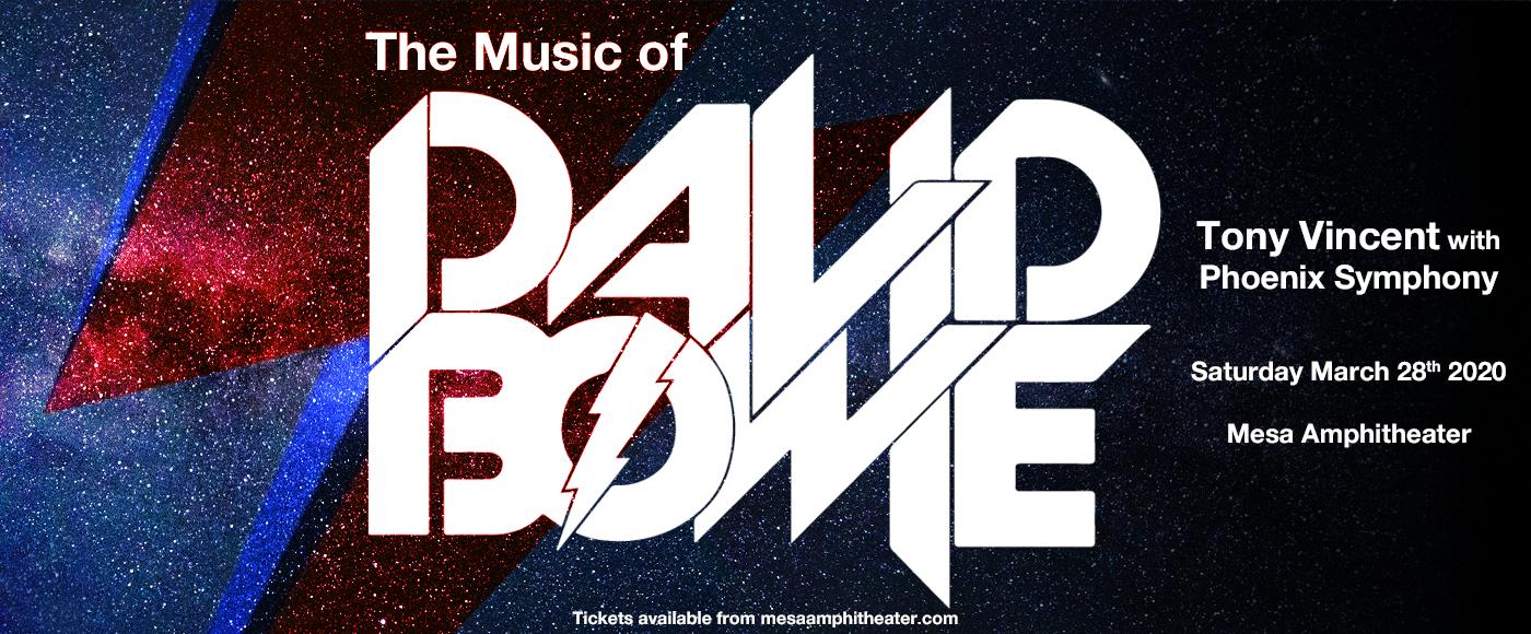 Phoenix Symphony: Tony Vincent - The Music of David Bowie at Mesa Amphitheater