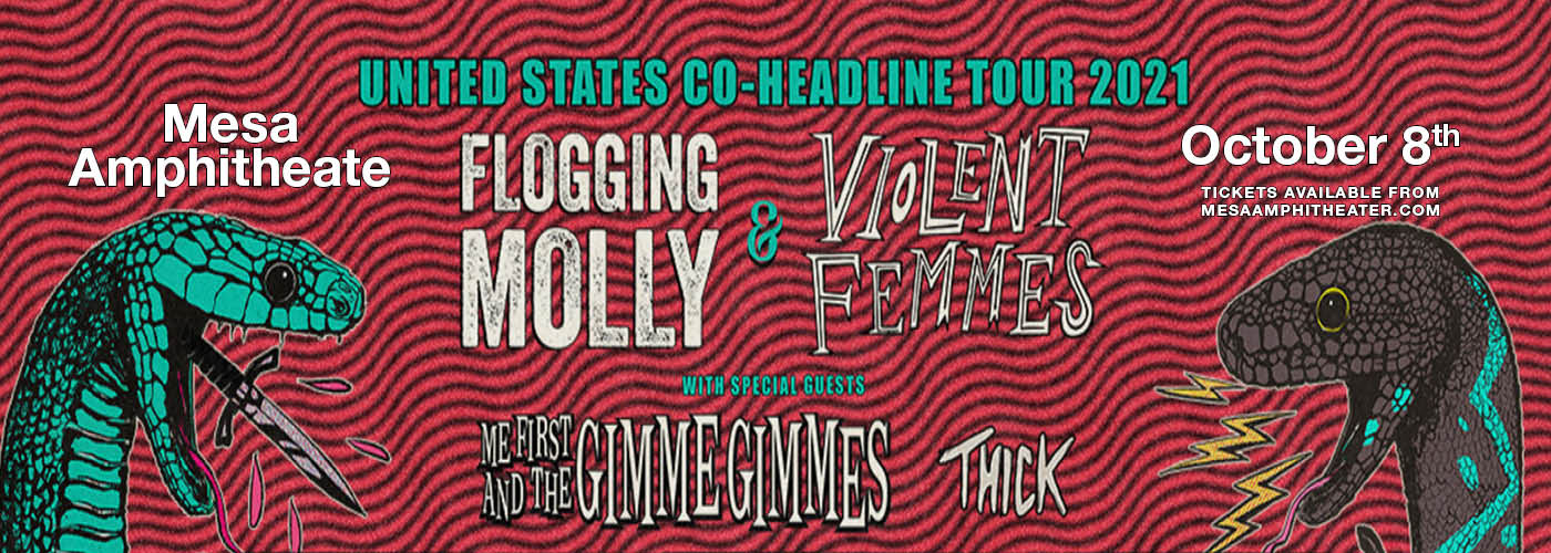 Flogging Molly, Violent Femmes & Thick at Mesa Amphitheater